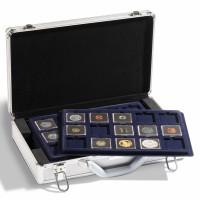 Чемодан (кейс) с планшетами Q50 для монет в капсулах Quadrum и холдерах, Leuchtturm KO3 #343225