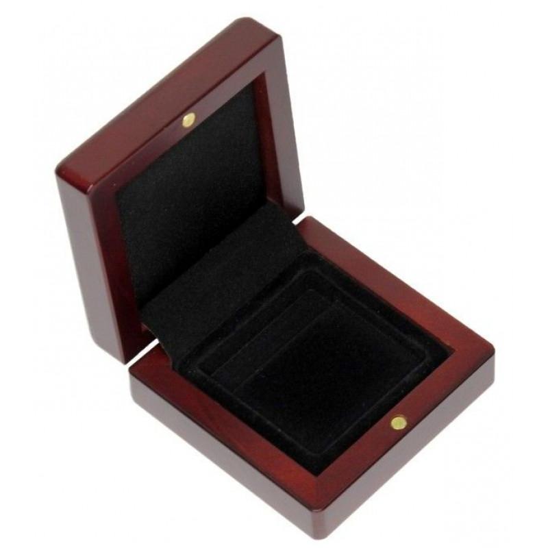 Коробка Volterra Quadrum 1S деревянная для 1 монеты в капсуле Quadrum. Leuchtturm HMETUIQ