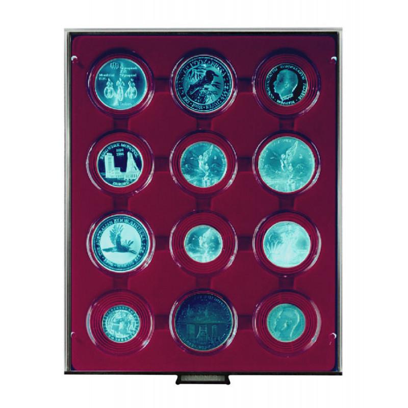 Бокс монетный c планшетом для монет в капсулах 58 мм. Lindner