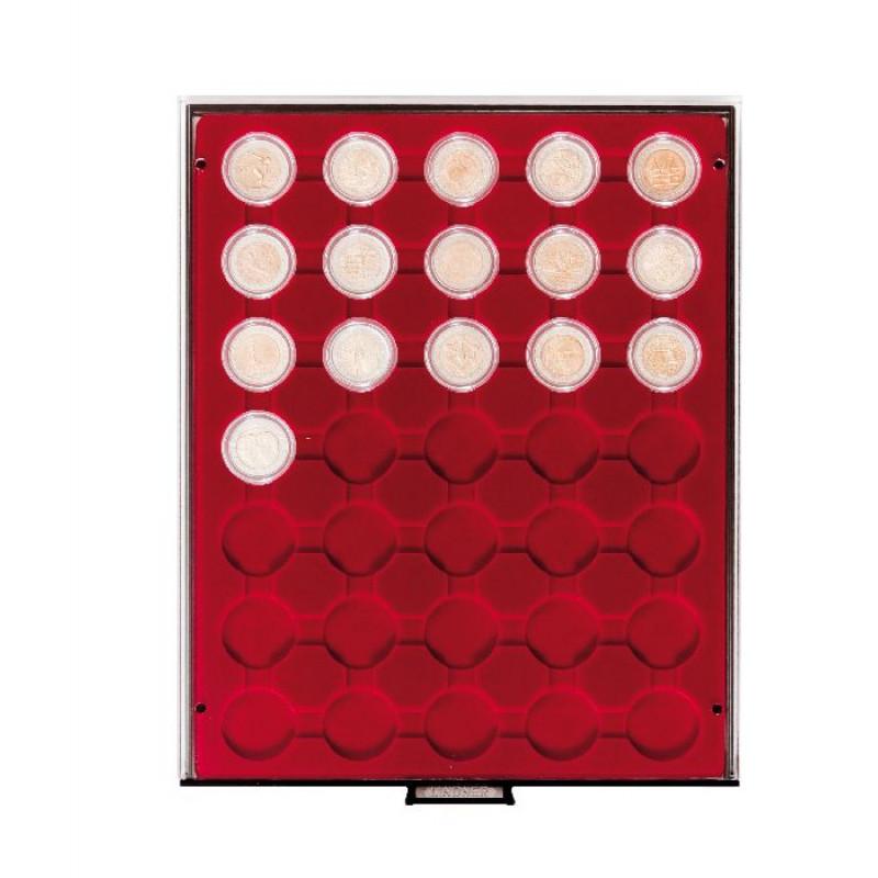 Бокс монетный c планшетом для монет в капсулах 36 мм. Lindner