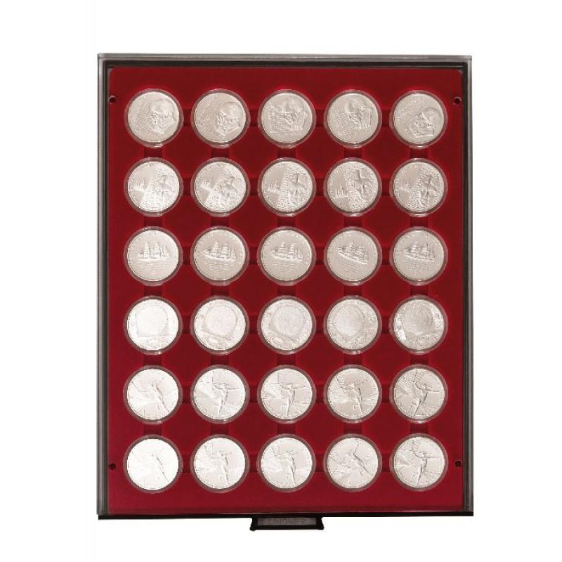 Бокс монетный c планшетом для монет в капсулах 37 мм. Lindner