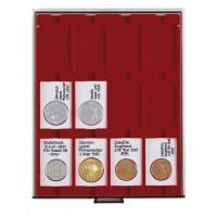 Бокс монетный c планшетом на 12 ячеек 50x70мм для холдеров REBECK COIN L. Leuchtturm