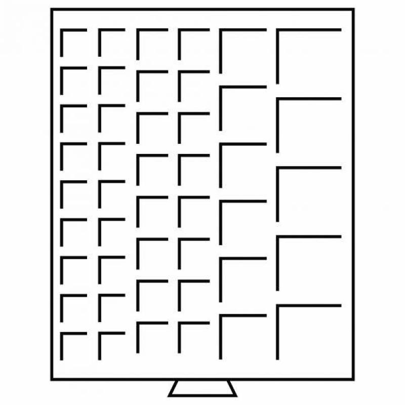 Бокс монетный c планшетом на 45 ячеек 23, 27, 37 и 42 мм, Leuchtturm MB MIX