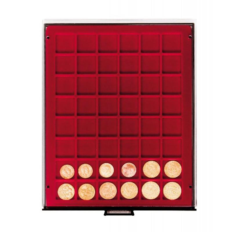 Бокс монетный c планшетом на 48 ячеек 28х28 мм. Leuchtturm MB 48/28