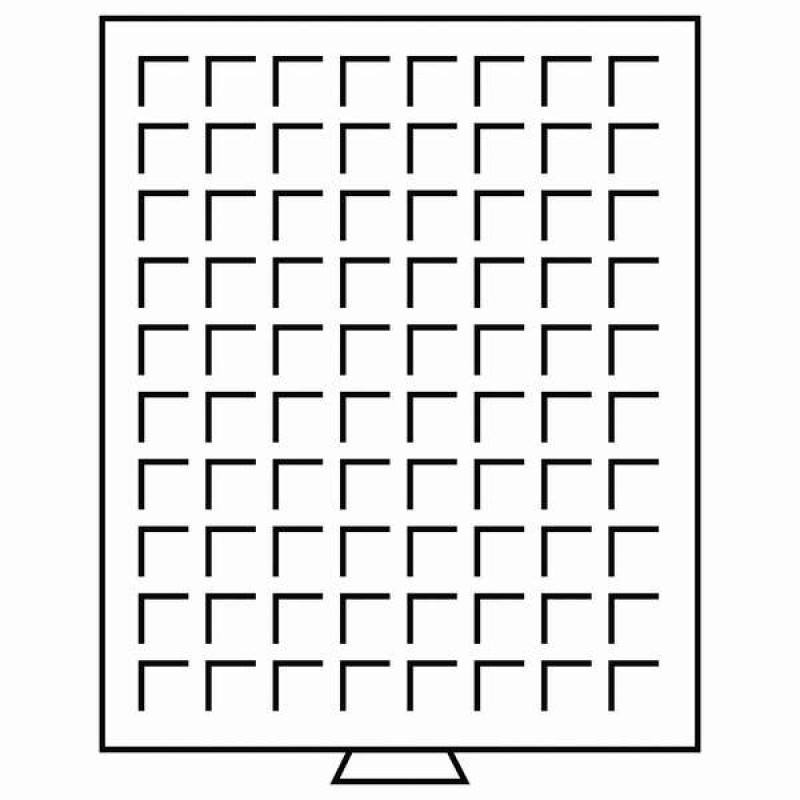 Бокс монетный c планшетом на 80 ячеек 24х24 мм. Leuchtturm MB 80