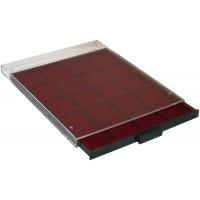 Бокс монетный c планшетом на 20 ячеек 48х48 мм. Leuchtturm MB 20