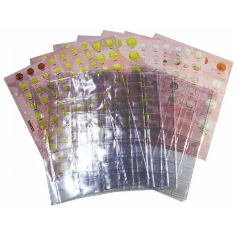 Комплект листов и листов-разделителей для регулярных монет СССР 1921-1957 гг