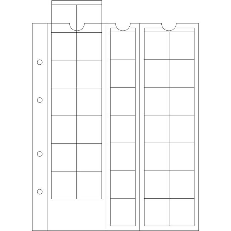 Лист для 35 монет до 27 мм, Optima M35, Leuchtturm