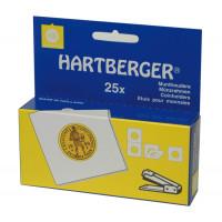HARTBERGER 37.5 - Холдеры для монет, 37.5 мм, под степлер, упаковка 25 шт