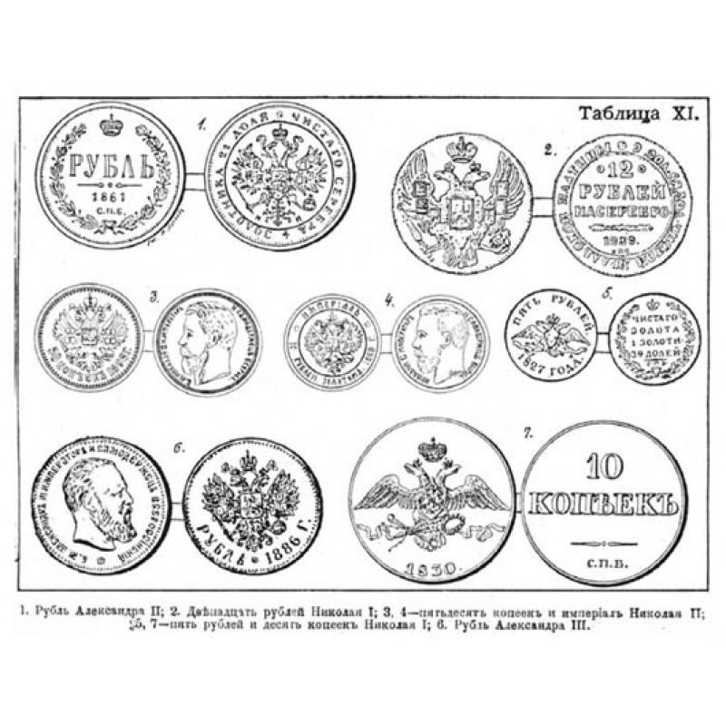 12 таблиц русских монет с древнейших времен до наших дней