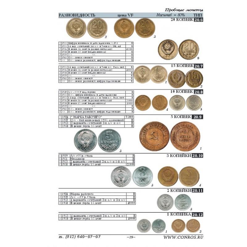 Монеты рсфср ссср каталог 2017 список монет 10 рублей по годам