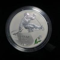 3 рубля 2014 Следж хоккей на льду, Proof (UNC)