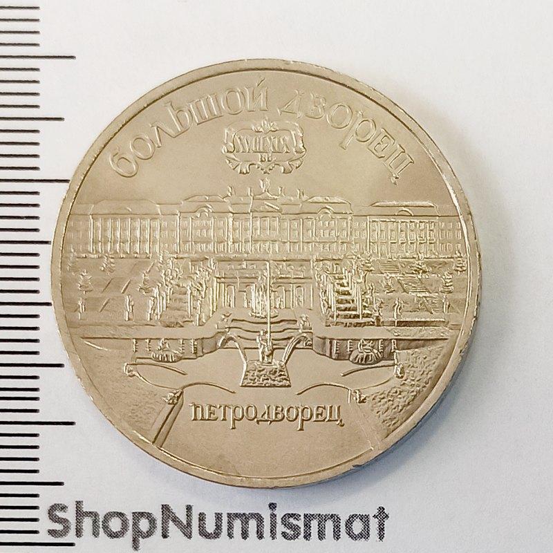 5 рублей 1990 Большой дворец AUnc