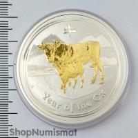 1 доллар 2009 Год Быка, Австралия, Proof (Unc)