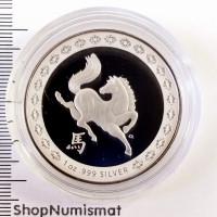 1 доллар 2014 Год Лошади, Австралия, Proof (UNC) [258]