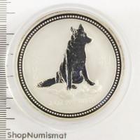 2 доллара 2006 Год Собаки (Dog Lunar), Австралия, Proof в капсуле