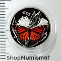 50 центов 2005 Бабочка Монарх, Канада, Proof (Unc) [360]