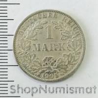1 марка (mark) 1905 A, Германская империя, VF