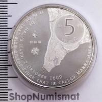 5 евро 2009 400 лет Манхэттену, Unc [65]