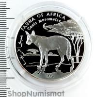 10000 шиллингов 1998 Чепрачный шакал, Сомали, Proof (Aunc) [3]