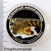 1 доллар 2011 Австралийский морской крокодил, Тувалу, Proof (UNC) [142]
